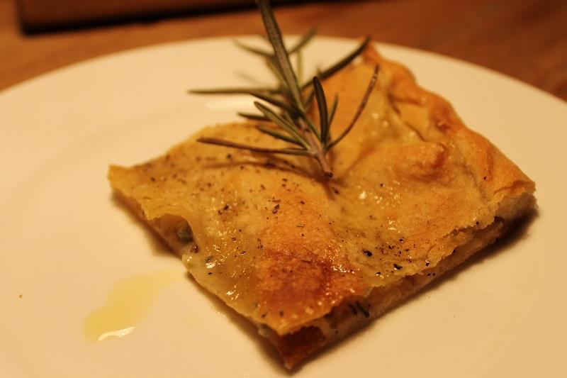 Focaccia mit Gorgonzola
