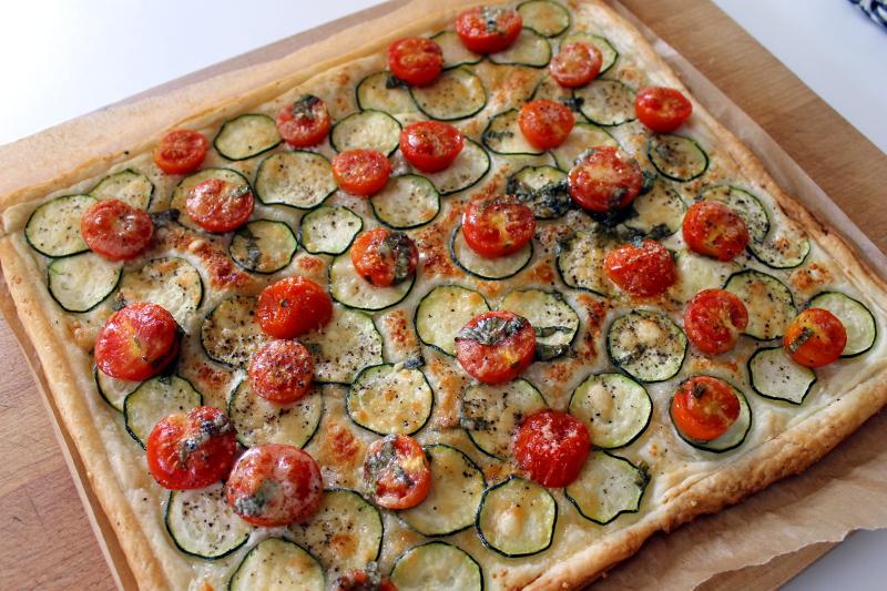 Zucchini-Tomaten-Tarte