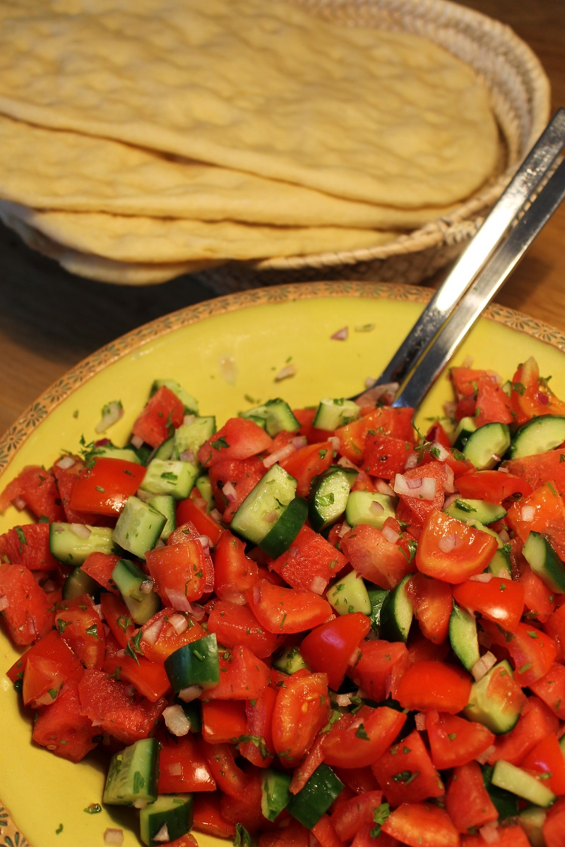 Israelischer Wassermelonensalat